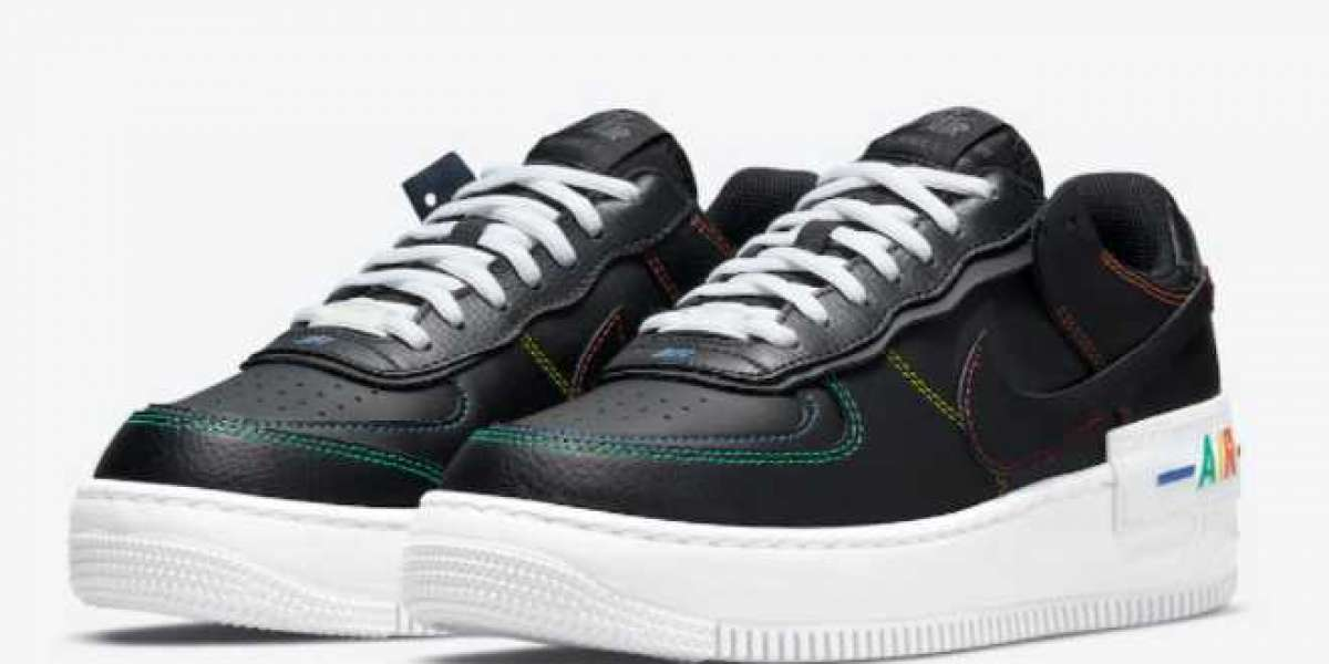 """Nike Air Force 1 Shadow """"Multi Stitch"""" Casual Shoes On Sale DJ5998-001"""