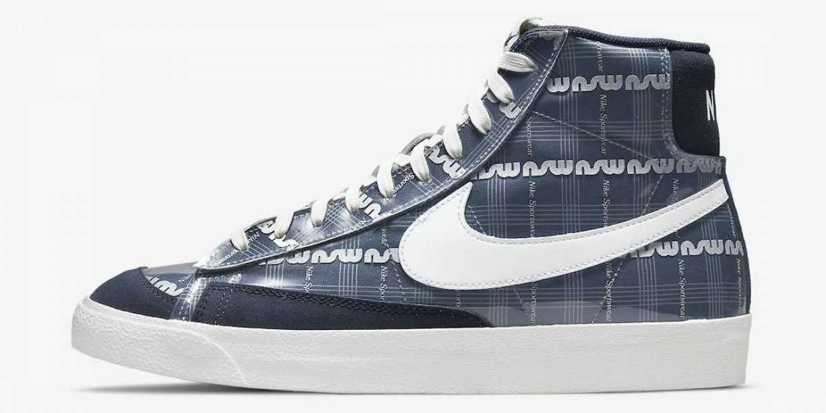 "The Nike Blazer Mid ""Midnight Navy"" DJ4654-410 shoes selling hot"