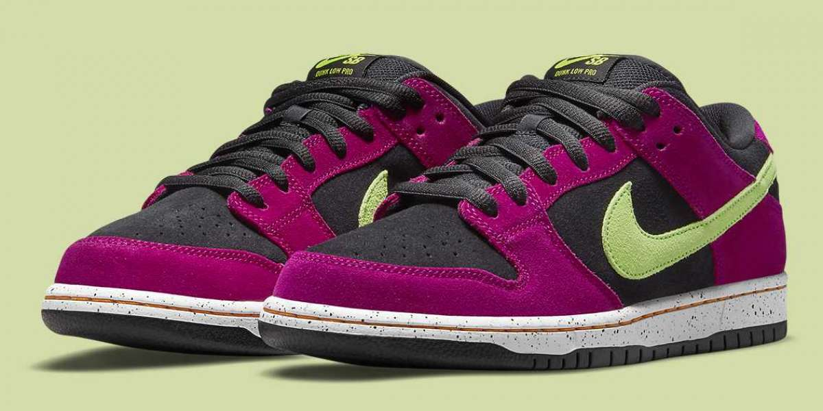 """Nike Dunk Low """"Red Plum"""" BQ6817-501 released in August 2021"""